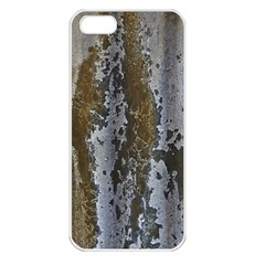 Grunge Rust Old Wall Metal Texture Apple Iphone 5 Seamless Case (white)