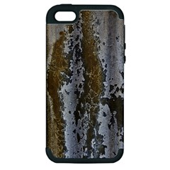 Grunge Rust Old Wall Metal Texture Apple iPhone 5 Hardshell Case (PC+Silicone)