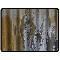 Grunge Rust Old Wall Metal Texture Double Sided Fleece Blanket (large)