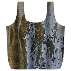 Grunge Rust Old Wall Metal Texture Full Print Recycle Bags (l)