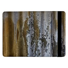 Grunge Rust Old Wall Metal Texture Samsung Galaxy Tab Pro 12 2  Flip Case