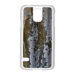 Grunge Rust Old Wall Metal Texture Samsung Galaxy S5 Case (white)