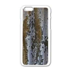Grunge Rust Old Wall Metal Texture Apple Iphone 6/6s White Enamel Case