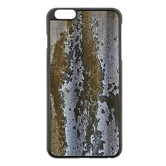 Grunge Rust Old Wall Metal Texture Apple Iphone 6 Plus/6s Plus Black Enamel Case