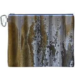 Grunge Rust Old Wall Metal Texture Canvas Cosmetic Bag (xxxl)