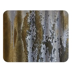 Grunge Rust Old Wall Metal Texture Double Sided Flano Blanket (large)
