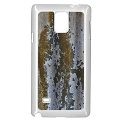 Grunge Rust Old Wall Metal Texture Samsung Galaxy Note 4 Case (white)