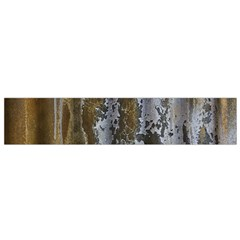 Grunge Rust Old Wall Metal Texture Flano Scarf (small)