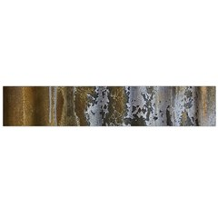 Grunge Rust Old Wall Metal Texture Flano Scarf (large)