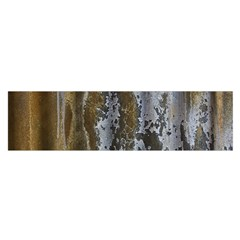 Grunge Rust Old Wall Metal Texture Satin Scarf (Oblong)