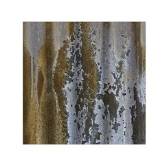 Grunge Rust Old Wall Metal Texture Small Satin Scarf (square)