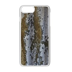 Grunge Rust Old Wall Metal Texture Apple Iphone 7 Plus White Seamless Case