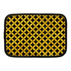 Circles3 Black Marble & Yellow Marble Netbook Case (medium)