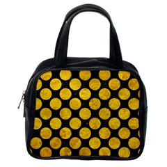 Circles2 Black Marble & Yellow Marble Classic Handbag (one Side)