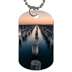 Logs Nature Pattern Pillars Shadow Dog Tag (one Side)