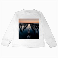 Logs Nature Pattern Pillars Shadow Kids Long Sleeve T Shirts