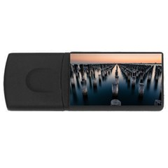 Logs Nature Pattern Pillars Shadow USB Flash Drive Rectangular (4 GB)