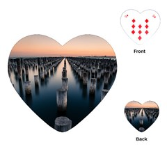 Logs Nature Pattern Pillars Shadow Playing Cards (heart)