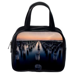 Logs Nature Pattern Pillars Shadow Classic Handbags (one Side)