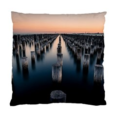 Logs Nature Pattern Pillars Shadow Standard Cushion Case (one Side)