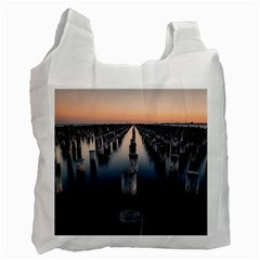 Logs Nature Pattern Pillars Shadow Recycle Bag (one Side)
