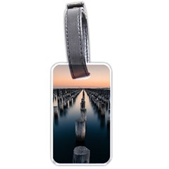 Logs Nature Pattern Pillars Shadow Luggage Tags (one Side)