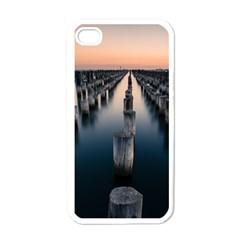 Logs Nature Pattern Pillars Shadow Apple Iphone 4 Case (white)