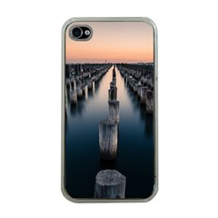 Logs Nature Pattern Pillars Shadow Apple Iphone 4 Case (clear)