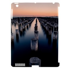 Logs Nature Pattern Pillars Shadow Apple Ipad 3/4 Hardshell Case (compatible With Smart Cover)