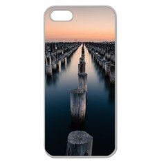 Logs Nature Pattern Pillars Shadow Apple Seamless Iphone 5 Case (clear)