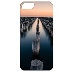 Logs Nature Pattern Pillars Shadow Apple Iphone 5 Classic Hardshell Case