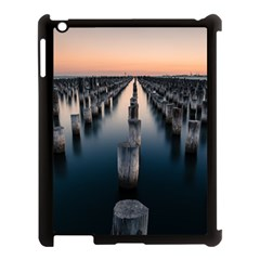 Logs Nature Pattern Pillars Shadow Apple Ipad 3/4 Case (black)