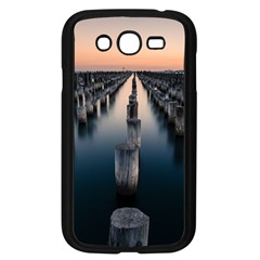 Logs Nature Pattern Pillars Shadow Samsung Galaxy Grand Duos I9082 Case (black)