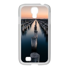 Logs Nature Pattern Pillars Shadow Samsung Galaxy S4 I9500/ I9505 Case (white)