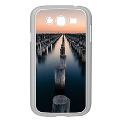 Logs Nature Pattern Pillars Shadow Samsung Galaxy Grand Duos I9082 Case (white)