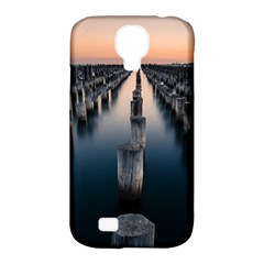Logs Nature Pattern Pillars Shadow Samsung Galaxy S4 Classic Hardshell Case (pc+silicone)