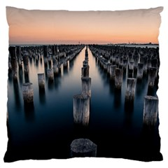 Logs Nature Pattern Pillars Shadow Large Flano Cushion Case (one Side)