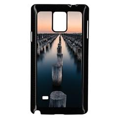 Logs Nature Pattern Pillars Shadow Samsung Galaxy Note 4 Case (black)