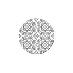 Mandala Line Art Black And White Golf Ball Marker (4 Pack)
