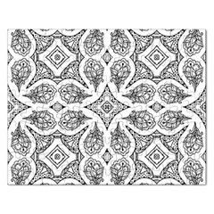 Mandala Line Art Black And White Rectangular Jigsaw Puzzl