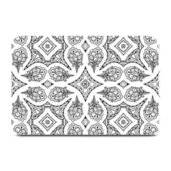Mandala Line Art Black And White Plate Mats