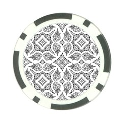 Mandala Line Art Black And White Poker Chip Card Guard