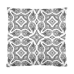 Mandala Line Art Black And White Standard Cushion Case (Two Sides)