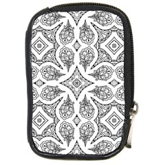 Mandala Line Art Black And White Compact Camera Cases