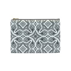 Mandala Line Art Black And White Cosmetic Bag (medium)