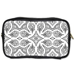 Mandala Line Art Black And White Toiletries Bags