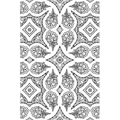 Mandala Line Art Black And White 5 5  X 8 5  Notebooks