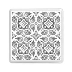 Mandala Line Art Black And White Memory Card Reader (square)