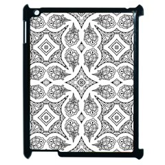 Mandala Line Art Black And White Apple Ipad 2 Case (black)