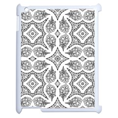 Mandala Line Art Black And White Apple Ipad 2 Case (white)